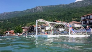 Water polo in Lake Ohrid