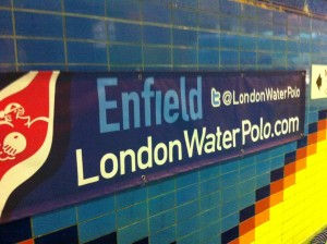 Enfield's poolside banner